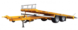 Trailers with pneumatic braking - Tip-up flatbed - 11T à 31T