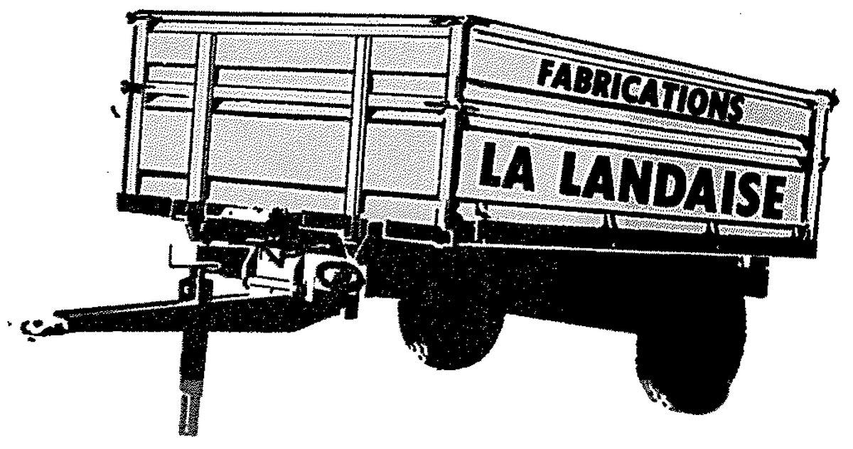 Dessin première remorque Gourdon 1973