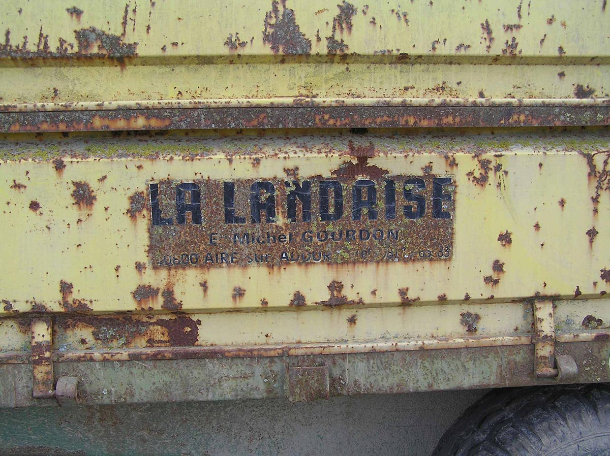 Détail remorque Gourdon La Landaise 1973